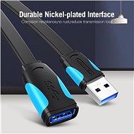 Vention USB3,0 Extension Cable 1 m Black - Adatkábel