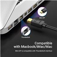 Vention Mini DisplayPort (miniDP) to HDMI Cable 1,5m Black - Videokábel