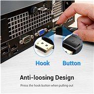 Vention DisplayPort (DP) to DVI Cable 1,5m Black - Videokábel