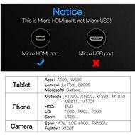 Vention Micro HDMI to HDMI Cable 2M Black - Videokábel