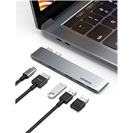Ugreen Dual USB-C To HDMI+3xUSB 3.0 A+Type C Female Converter - Port replikátor