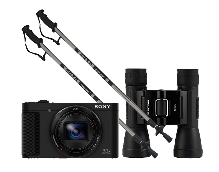 Ajándék a nagypapának; Sony CyberShot DSC-HX90V GPS; Calter Hema; Celestron UpClose G2 Roof távcső