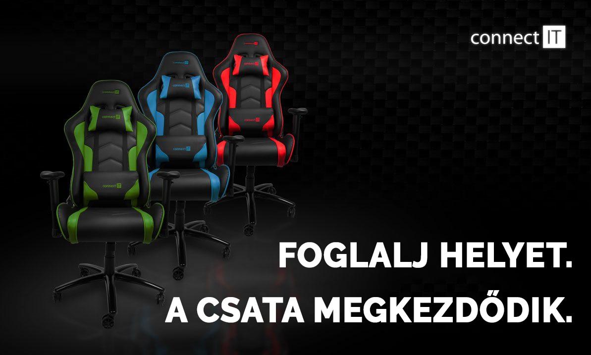CONNECT IT Gaming chair, zöld Gamer szék   Alza.hu