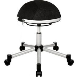 Kancelářská židle ve tvaru půlmíče