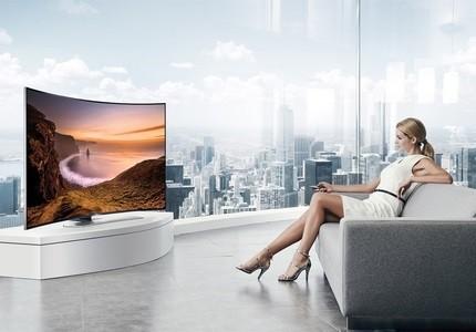 Prohnutá Smart TV Samsung