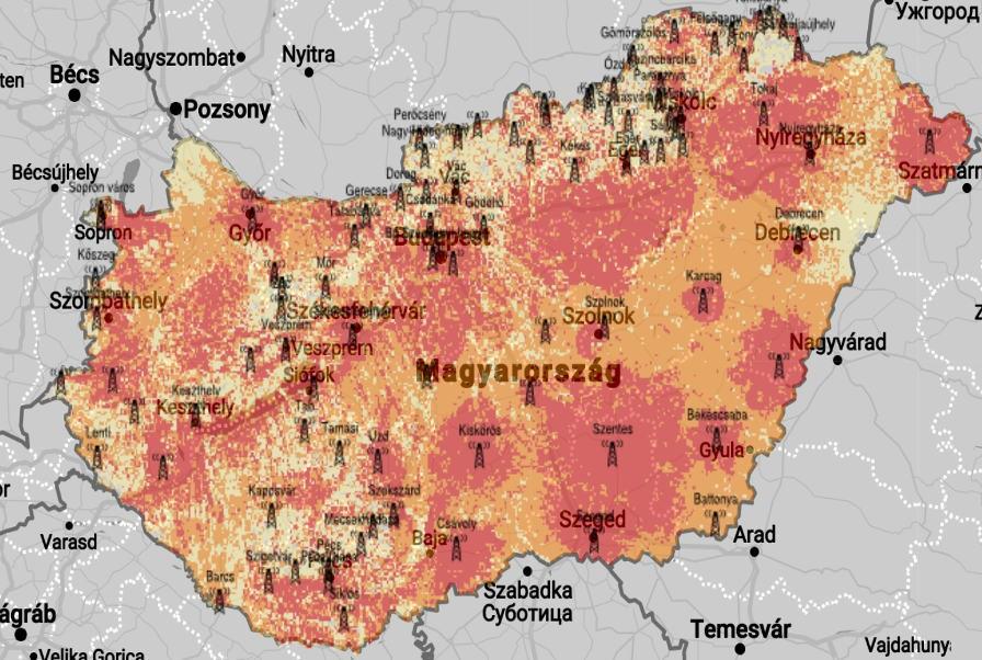 Országos lefedettségi térkép
