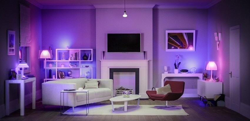 Philips Hue; barevné osvětlení; pokoj