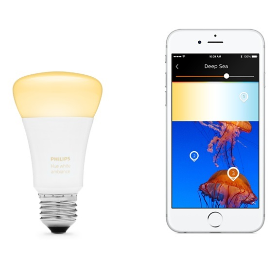 Philips Hue; žárovka; White Ambiance; mobil