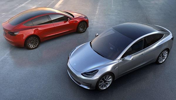 Tesla Model 3; čelní pohled