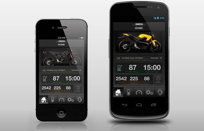Zero Motorcycles, app