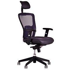DIKE Irodai forgószék fejtámlával, fekete - Irodai szék