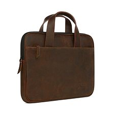 "Decoded Waxed Slim Bag Brown MacBook 12"", 13"", 15"" - Laptoptáska"