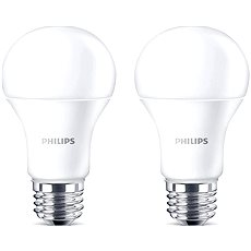 Philips LED 13-100W, E27, 2700K, matt, 2 készlet - LED izzó