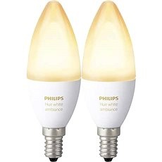 Philips Hue White Ambiance, 6 W, E14, 2 db-os készlet - LED izzó