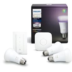 Philips Hue White and Color ambiance 10W E27 kezdőkészlet - LED izzó