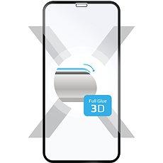 FIXED 3D Full-Cover Apple iPhone X készülékhez a teljes kijelzőre fekete - Képernyővédő