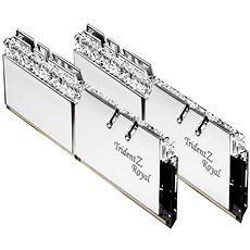 G.SKILL 16GB KIT DDR3 3200MHz CL16 Trident Z Royal RGB ezüst - Rendszermemória