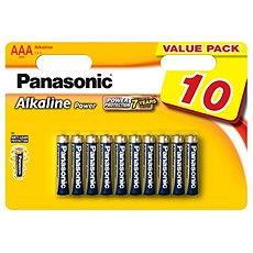 Panasonic AAA Alkaline Power LR03 10db - Eldobható elemek
