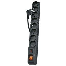 EMOS 8 dugaljjal, 1,5 m, fekete - Túlfeszültségvédő hosszabbító
