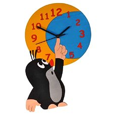Dodo Gyermek fából készült óra Maulwurf és a hold - Óra a gyermekszobába