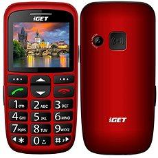 iGET Simple D7 piros - Mobiltelefon