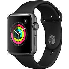 Apple Watch Series 3 42mm GPS asztroszürke alumínium fekete sportszíjjal - Okosóra