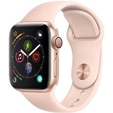 Apple Watch Series 4 40mm aranyszínű alumínium rózsakvarcszínű sportszíjjal - Okosóra