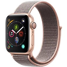 Apple Watch Series 4 40mm aranyszínű alumínium rózsakvarcszínű sportpánttal - Okosóra