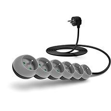 CONNECT IT hosszabbító, 230V, 6 aljzat, 3m, szürke - Hosszabbító