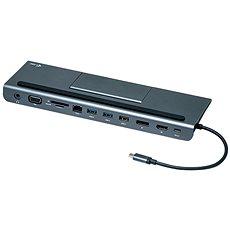I-TEC USB-C metál alacsony profilú 4K-os háromszoros kijelző dokkolóállomás + teljesítmény-leadás 85 - Dokkoló állomás
