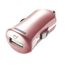 Cellularline Unique Design rózsaszín arany autós töltő iPhone számára - Autós töltő