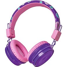 Trust Comi Bluetooth Wireless Kids Headphones, lila - Fej-/Fülhallgató