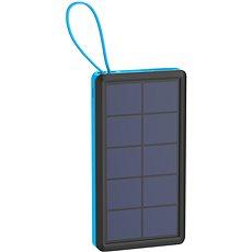 XLAYER Powerbank PLUS Solar 10000mAh fekete-kék - Powerbank