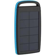 XLAYER Powerbank PLUS Solar 20000mAh fekete-kék - Powerbank