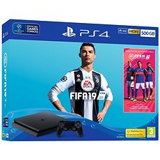PlayStation 4 - 500 GB Slim + FIFA 19 - Játékkonzol