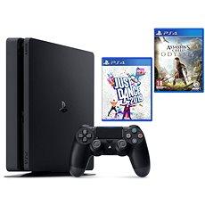PlayStation 4 Slim  500 GB + Assassins Creed Odyssey + Just Dance 2019 - Játékkonzol