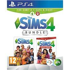 The Sims 4 + Cats & Dogs Bundle (alapjáték + kiegészítő) - PS4 - Konzoljáték