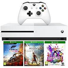Xbox One S 1TB + Forza Horizon 4 + Assassins Creed Odyssey + Just Dance 2019 - Játékkonzol