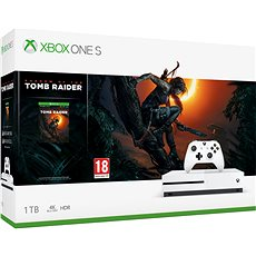 Xbox One S 1TB + Shadow of the Tomb Raider - Játékkonzol