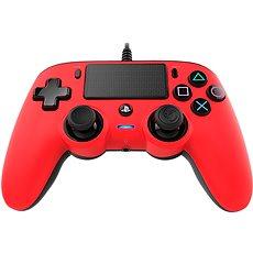 Nacon Wired Compact Controller PS4 - piros - Játékvezérlő
