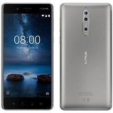 Nokia 8 Dual SIM mobiltelefon - Steel - Mobiltelefon