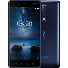 Nokia 8 Single SIM Tempered Blue - Mobiltelefon