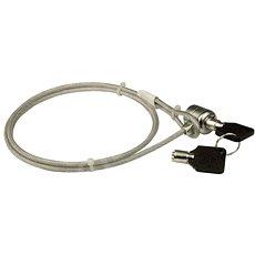 PremiumCord acélhuzallal és kulccsal - Biztonsági zár