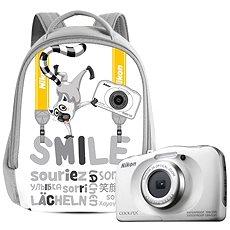 Nikon COOLPIX W100 fehér hátizsák szett - Fényképezőgép gyerekeknek