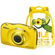 Nikon COOLPIX W100 sárga hátizsák szett - Fényképezőgép gyerekeknek