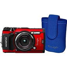 Olympus TOUGH TG-5 piros + Tough Neoprene Case - Digitális fényképezőgép
