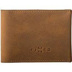 FIXED Smile Wallet okos nyomkövetővel, FIXED Smile és mozgásérzékelő, barna színű