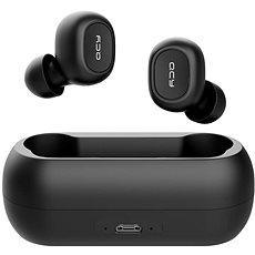 QCY T1C fekete - Mikrofonos fej-/fülhallgató