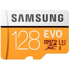 Samsung MicroSDXC 128GB EVO UHS-I U3 + SD adapter - Memóriakártya