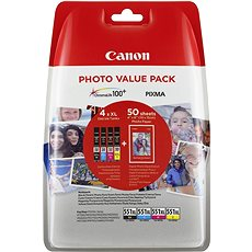 Canon XL CLI-551 C/M//Y/BK Photo Value - Tintapatron